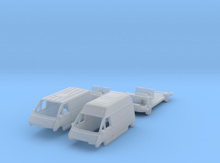 SET 2x Renault Trafic (TT 1:120) 3d printed