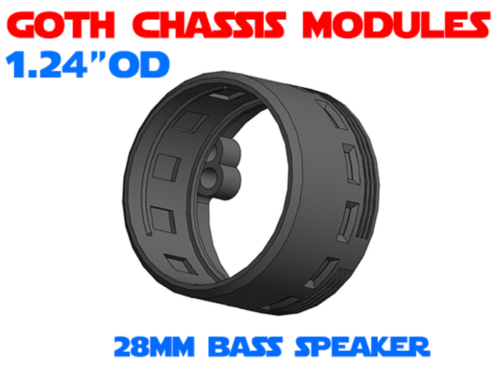 GCM124 - 28mm Bass Speaker Chassis 3d printed