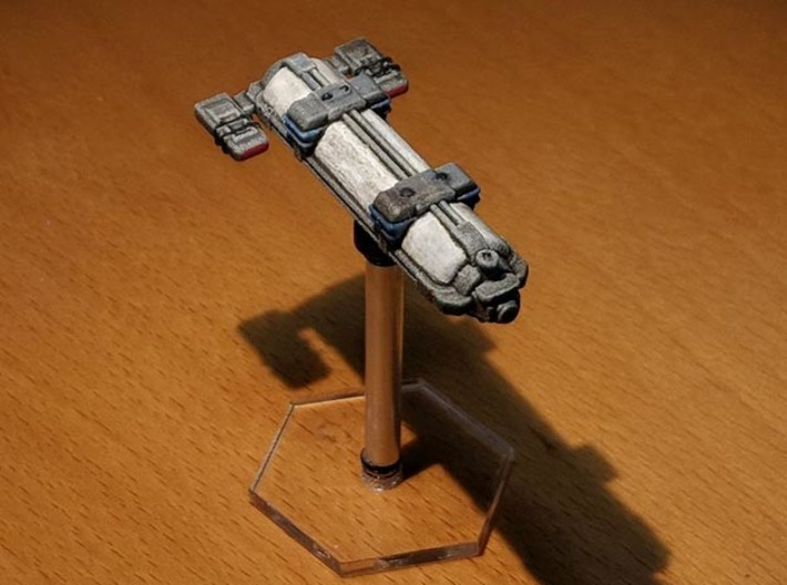 Omni Scale WYN Auxiliary Cruiser (AuxC) SRZ 3d printed Ship painted by a fan. Stand not included.