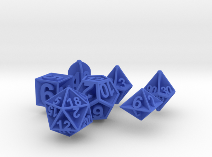 Plunged Sides Dice Set 3d printed