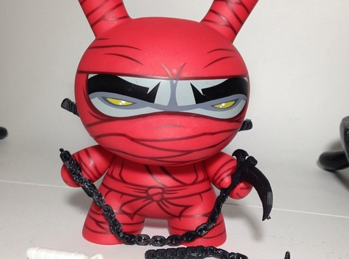 """All ninja weapons for the 8"""" inch Dunny 3d printed"""