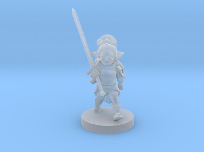 Halfling Female Warlord 3d printed