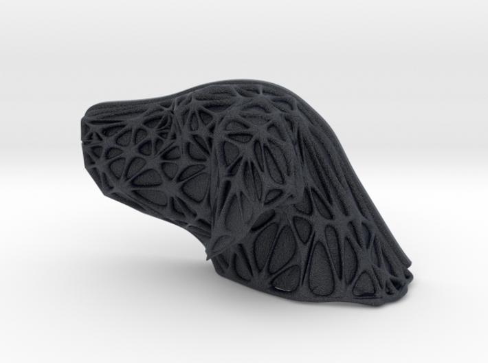 Dog Face + Voronoi Mask 3d printed