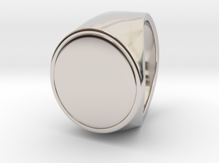 Signe  -  Unique US 6 Small Band Signet Ring 3d printed