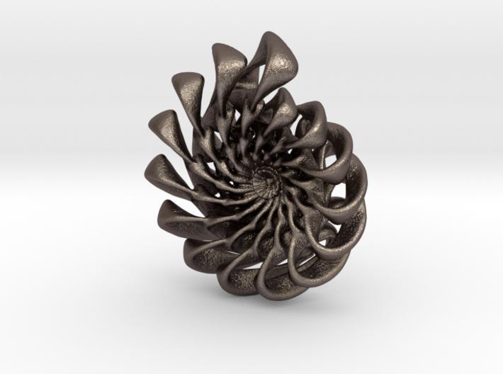 Ammonite Pendant 3d printed