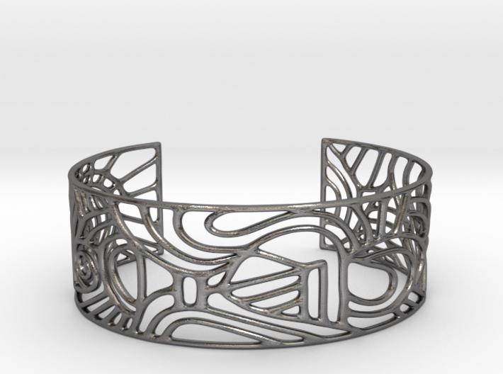 abstract cuff no. 12 slim version 3d printed