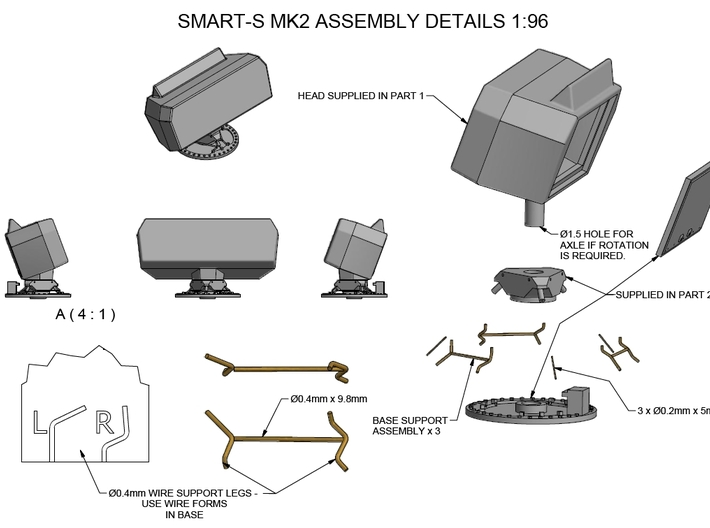 Smart-S MK2 Radar Kit - Part 1 1/96 3d printed