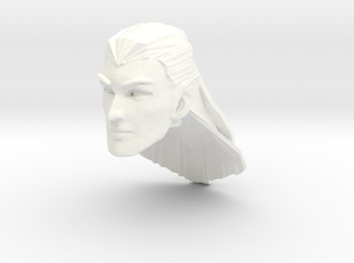 head elf long hair 2 3d printed