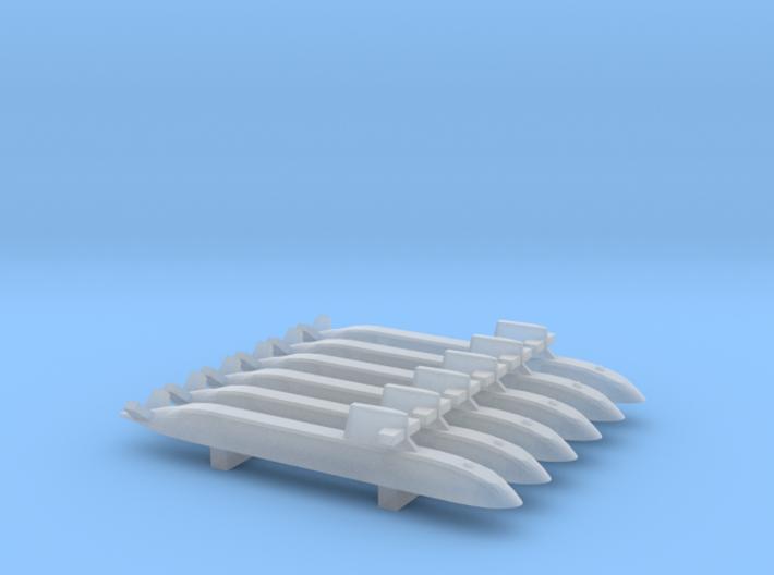 Soryu-class submarine x 6, 1/3000 3d printed