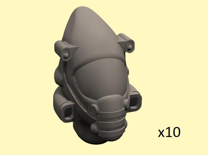 28mm Space elf guard heads x10 3d printed