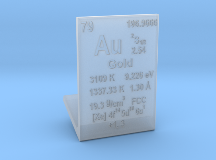 Gold Element Stand 3d printed
