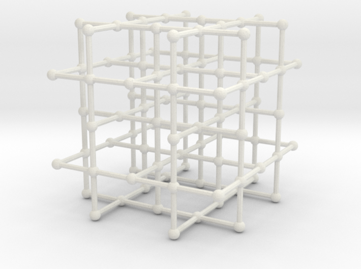 4-regular grid subgraph 3d printed