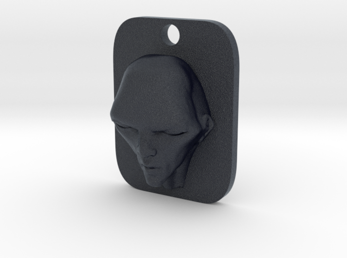 Personalised Man's Face Caricature Keyfob (003) 3d printed