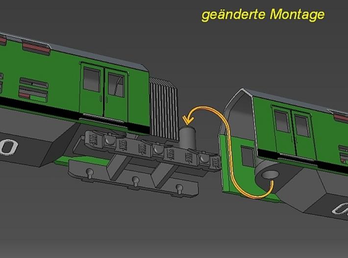 1:220 Überarbeitet - DR Doppelstockzug Erweiterung 3d printed