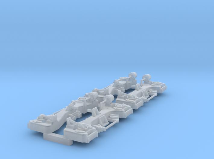 1/64 scale U8b truck sideframes 3d printed