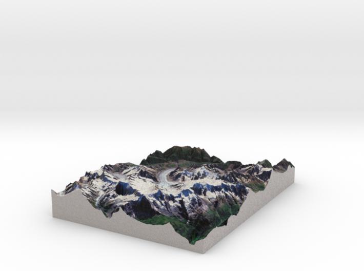 Swiss Alps, Jungfrau-Aletsch Map 3d printed