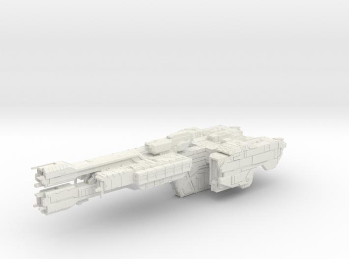 HALO. UNSC Stalwart Class Frigate 1:3000 3d printed