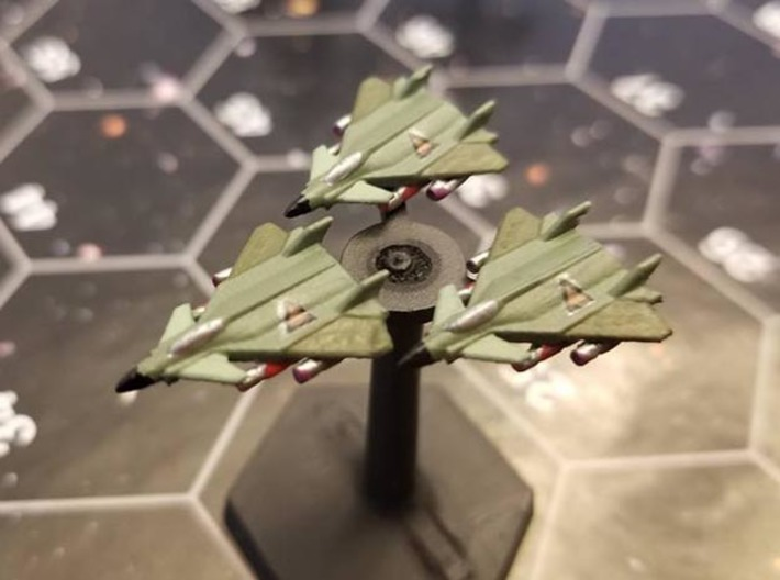 """Omni Scale Gorn G-12 """"Chimera"""" Fast Fighters MGL 3d printed Three Gorn G-12s painted by a fan. Stand not included."""