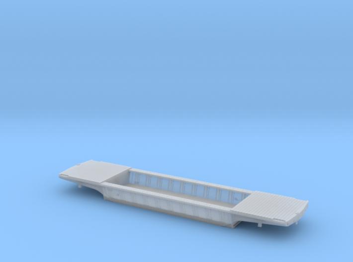 PRR F25 Depressed Center Flatcar in HO w/decking 3d printed
