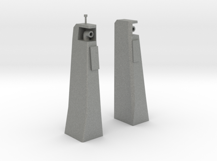 Smoke Stacks/Exhausts 1/50 fit Harbor Tug 3d printed