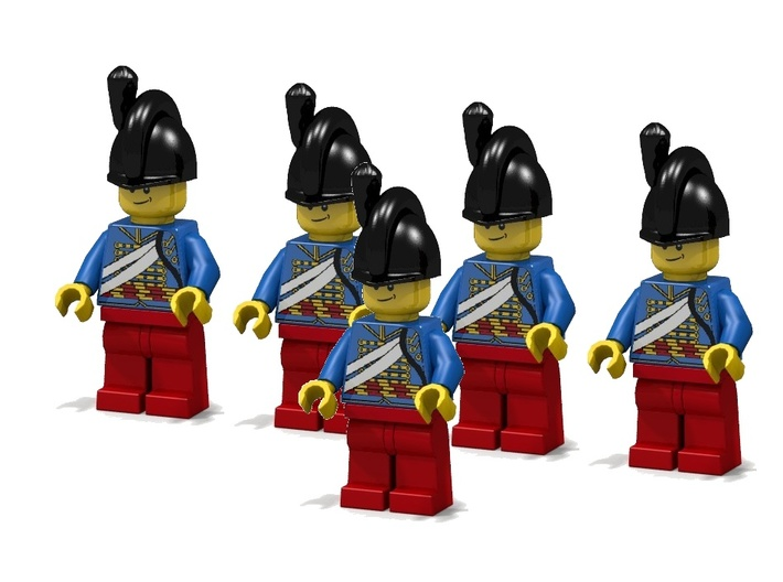 5 x British Artillery 3d printed British Horse Artillery (Render of an example Usage)