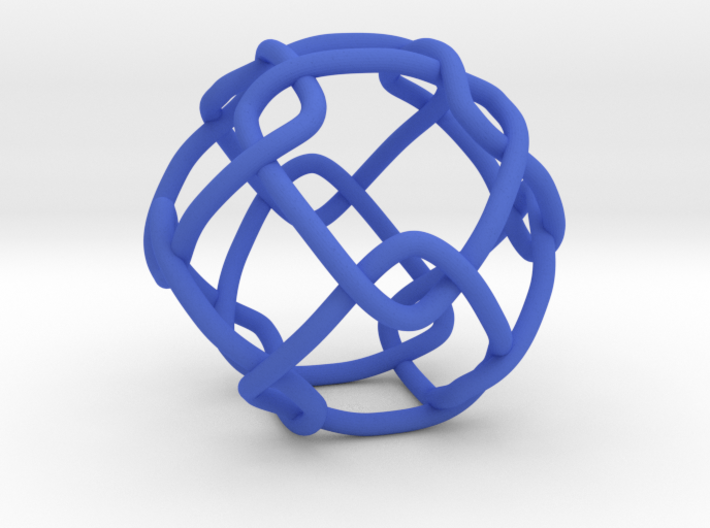 Link with Cubic Symmetry Group 3d printed