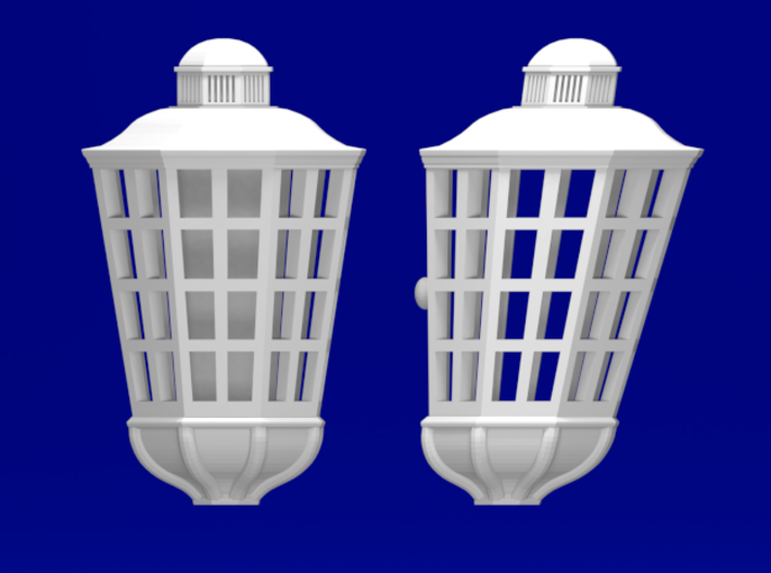 1:84 HMS Victory Lanterns 3d printed Front and side view (same for each size)