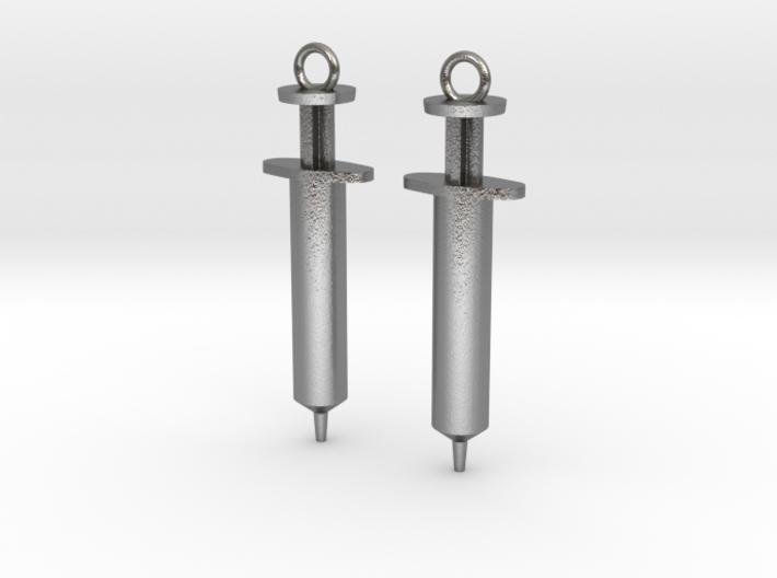Syringe Earrings 2pc 3d printed