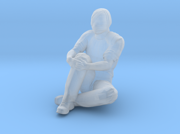 Man Sitting on Ground: Head & Neck Bandaged 3d printed