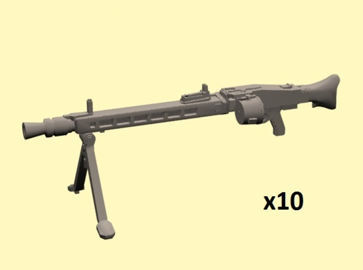 28mm MG-42 with drum x10 3d printed