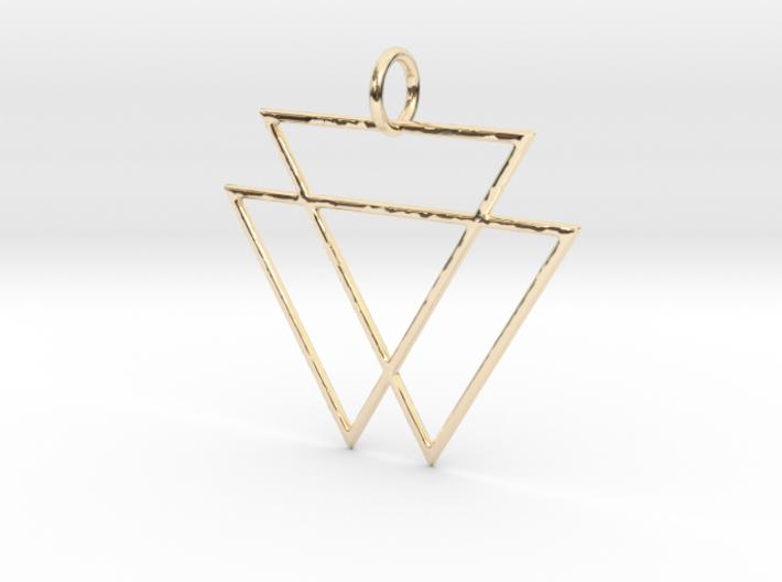 VAMPYRE Gold Pendant 3d printed