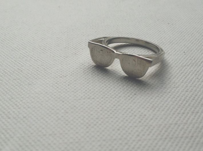 Endless Summer Ring 3d printed Polished Silver