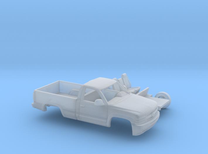 1/160 1999-02 Chevrolet Silverado1500 RegCab Kit 3d printed