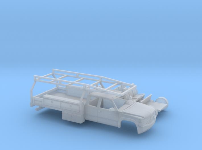 1/160 1999-02 Chevy Silverado EXTCab Contractor Ki 3d printed