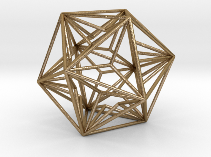 """Great Dodecahedron 1.6"""" 3d printed"""