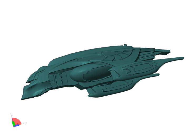1/1000 Scale Nightfury 3d printed High speed banking turn. Shows off the details well I think.