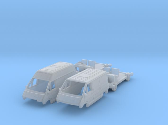 SET 2x Renault Trafic (British N 1:148) 3d printed