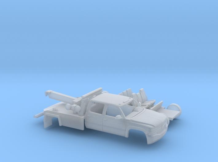 1/160 1999-02 Chevy Silverado CrewCab Wrecker Kit 3d printed