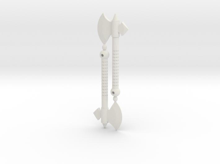 Medieval Hand Axe Set for ModiBot 3d printed Medieval Hand Axe Set for ModiBot
