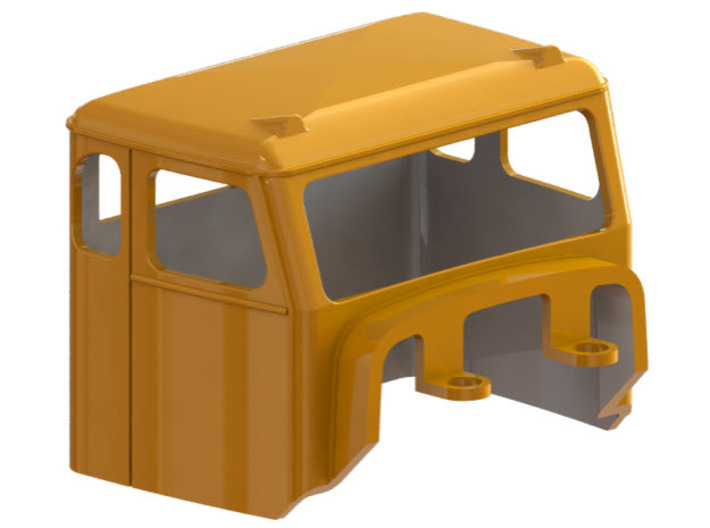 Truck Cab, Be-Ge 1350, fits Tekno Scania 3d printed CAD-model