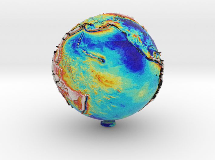 Earth Gravity Gradient Globe (GRACE dataset) 3d printed