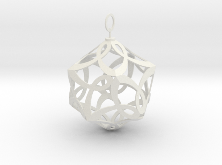 Cancer Ribbon Christmas Tree Ornament 3d printed