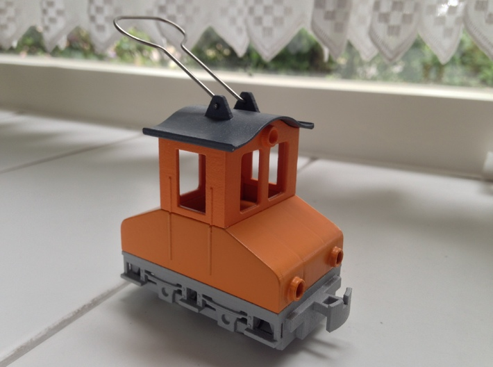 Gnomy E-Lok, 1x roof 3d printed Example of a finished model.
