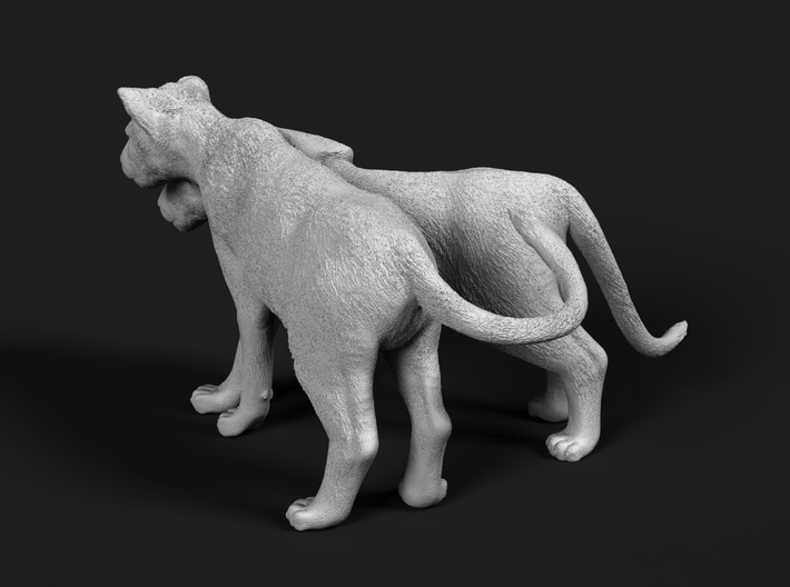 Lion 1:72 Cubs distracted while playing 3d printed