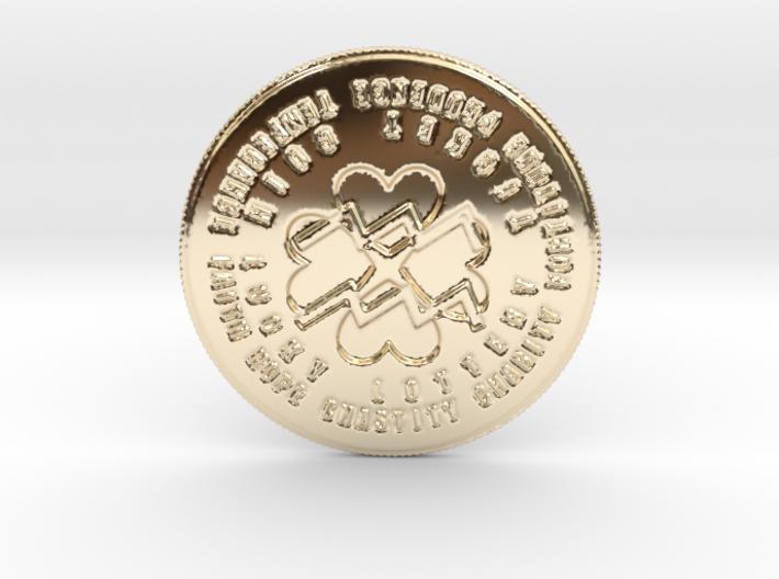 Aquarius Coin of 7 Virtues 3d printed