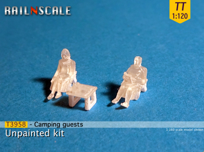 Camping guests and accessories - kit A (TT 1:120) 3d printed