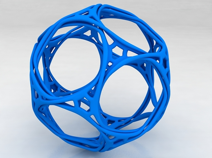 Looped docecahedron 3d printed