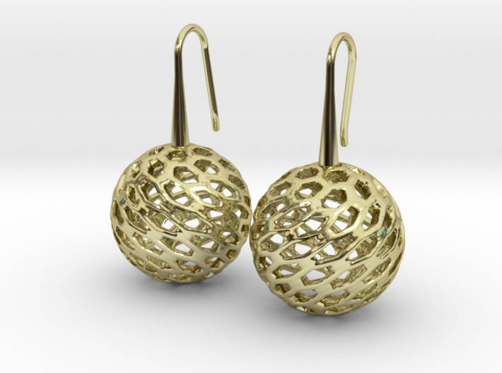 HONEYCANE Earrings 3d printed