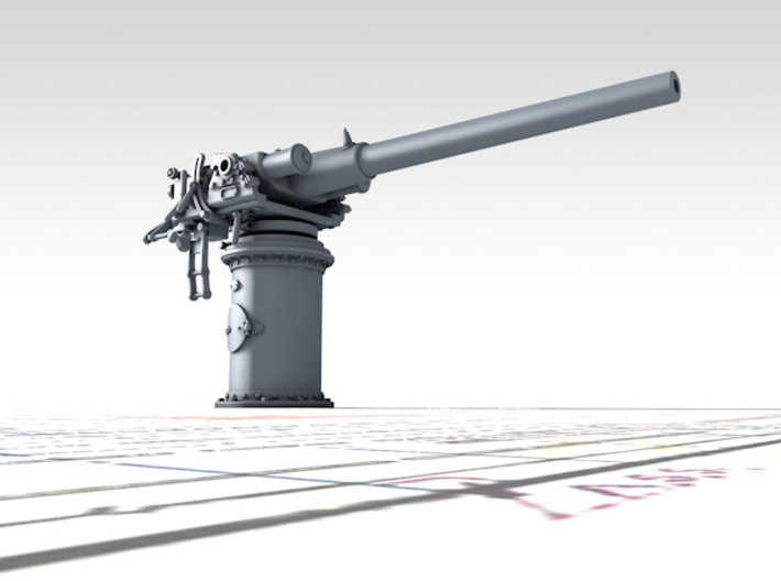 """1/144 Vickers 3-pdr 1.85""""/50 (47mm) x1 3d printed 3d render showing product detail"""