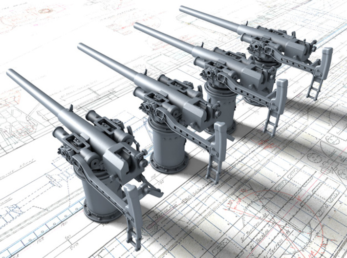 "1/128 Vickers 3-pdr 1.85""/50 (47mm) x4 3d printed 1/128 Vickers 3-pdr 1.85""/50 (47mm) x4"